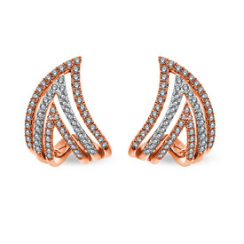 Earrings with 1/2 Carat TW of Diamonds in 10ct Rose Gold