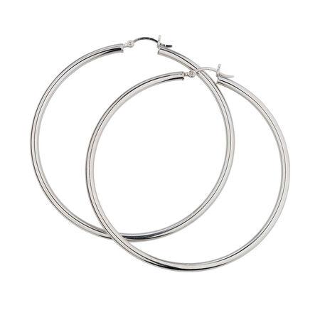 60mm Hoop Earrings in Sterling Silver