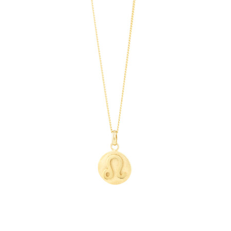 Leo Zodiac Pendant In 10ct Yellow Gold
