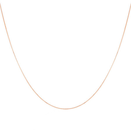 """60cm (24"""") Box Chain in 10ct Rose Gold"""