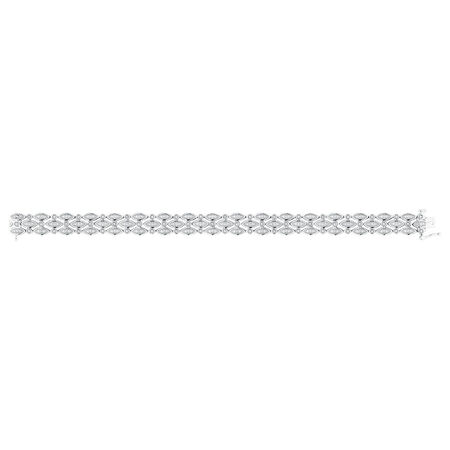 Bracelet with 1/3 Carat TW of Diamonds in Sterling Silver