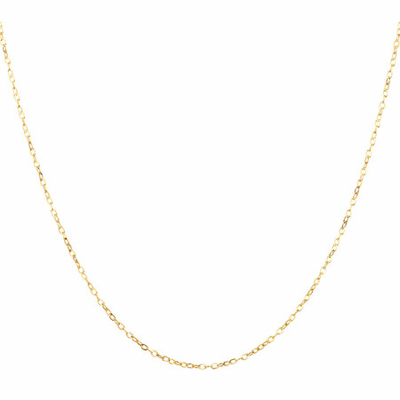 """45cm (18"""") Solid Cable Chain in 10ct Yellow Gold"""
