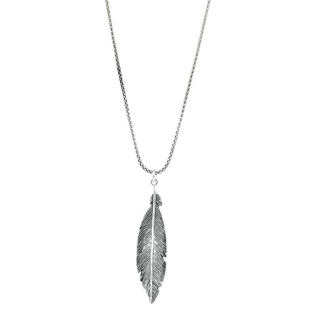 Feather Pendant in Sterling Silver