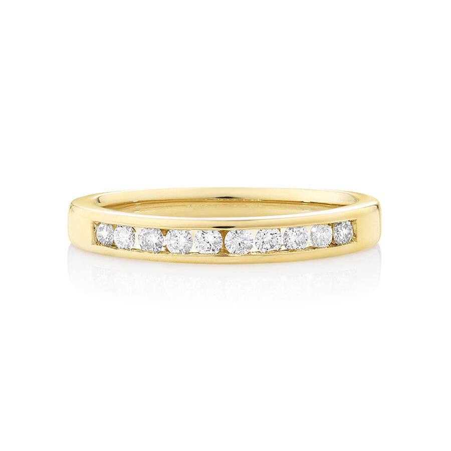 Evermore Wedding Band with 0.25 Carat TW of Diamonds in 18ct Yellow Gold