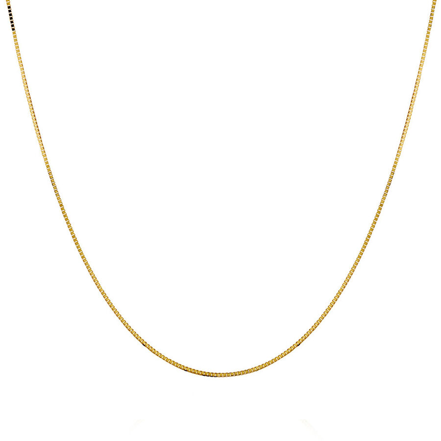 "60cm (24"") Box Chain in 10ct Yellow Gold"