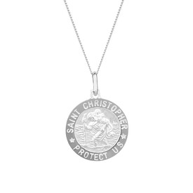 St Christopher Pendant in Sterling Silver