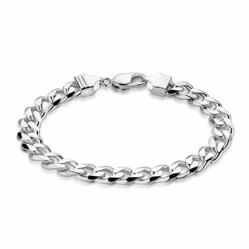 "21cm (8.5"") Men's Curb Bracelet in Sterling Silver"