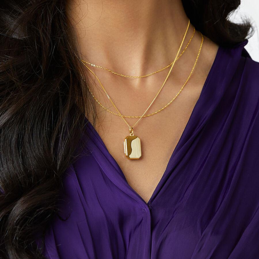Octagonal Locket Pendant in 10ct Yellow Gold