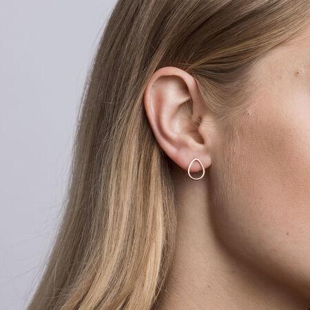 Open Pear Stud Earrings in 10ct Rose Gold