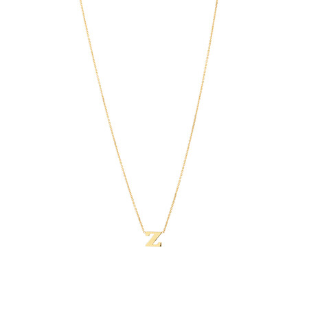 """""""Z"""" Initial Necklace in 10ct Yellow Gold"""