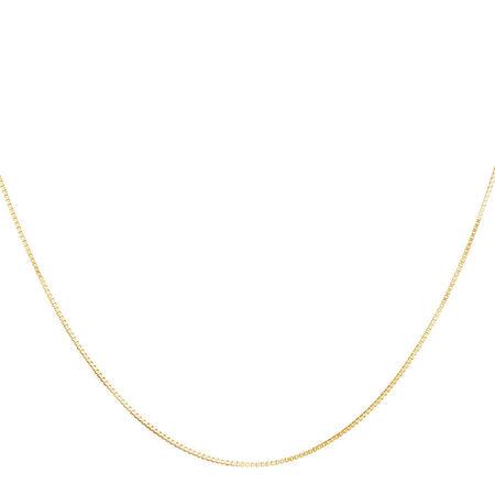 "50cm (20"") Box Chain in 10ct Yellow Gold"