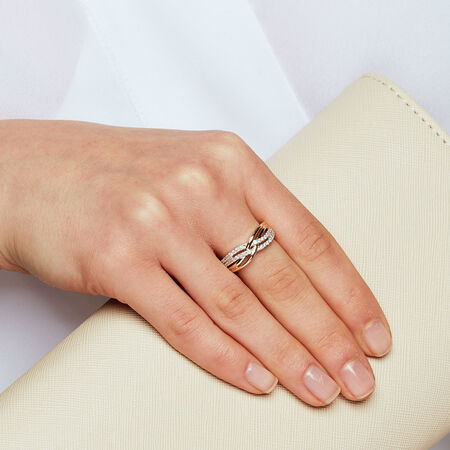 Ring with 1/3 Carat TW of Diamonds in 10ct Yellow Gold
