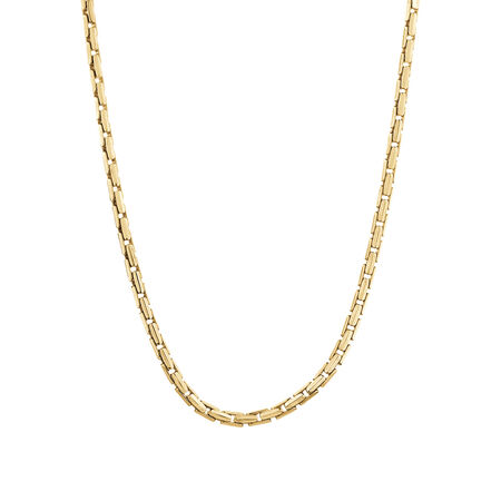 Box Link Necklace in 10ct Yellow Gold