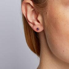 Amethyst Stud Earrings in 10ct Yellow Gold