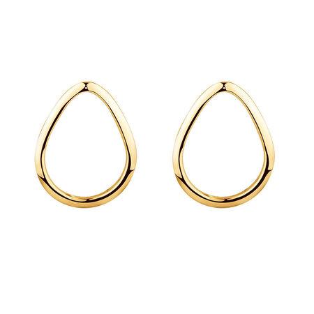 Open Pear Stud Earrings in 10ct Yellow Gold