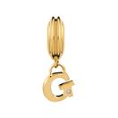 Diamond Set & 10ct Yellow Gold 'G' Charm