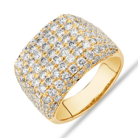 Gents Ring with 5 Carat TW of Diamonds In 10ct Yellow Gold