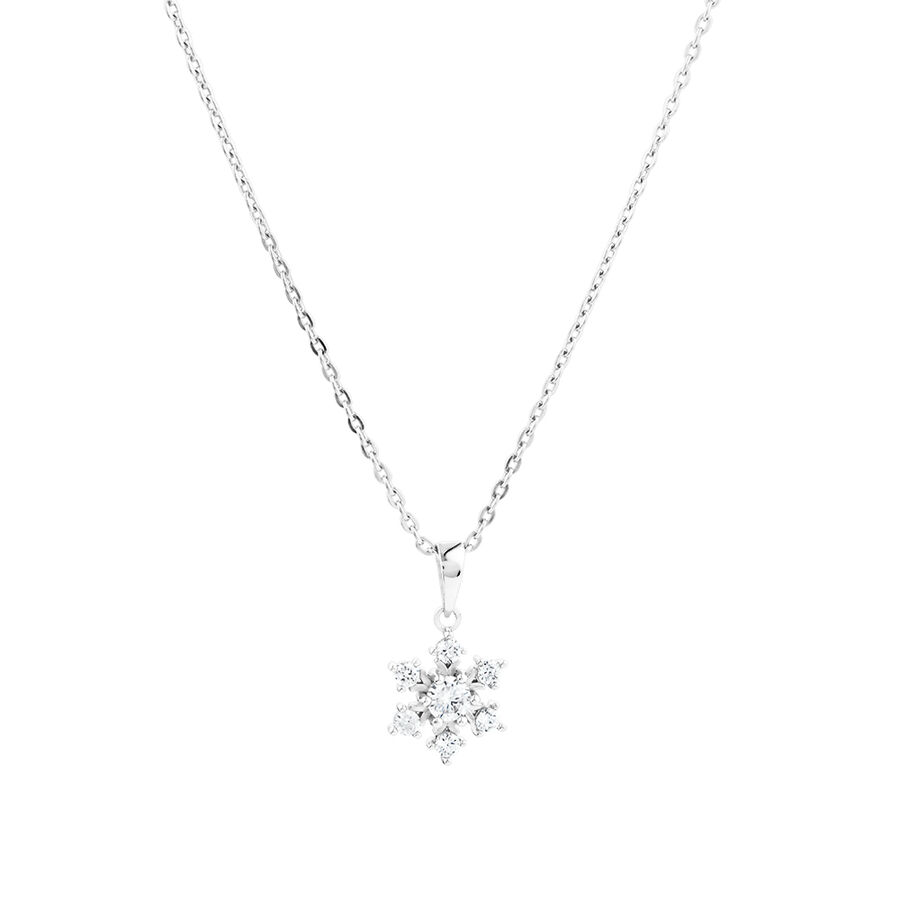 Snowflake Pendant in Sterling Silver