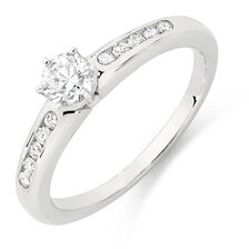 Online Exclusive - Engagement Ring with 1/2 Carat TW of Diamonds in 18ct White Gold