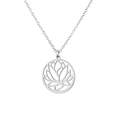 Lotus Flower Pendant in Sterling Silver