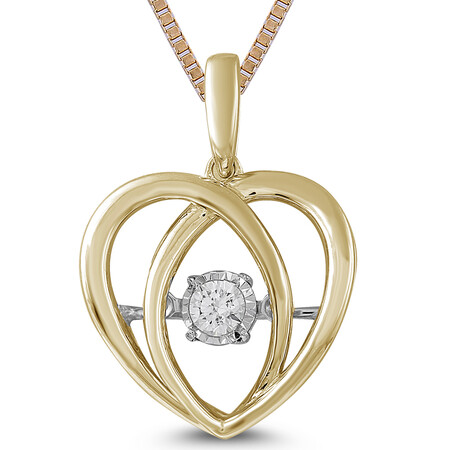 Everlight Pentant with Diamonds in 10ct Yellow Gold