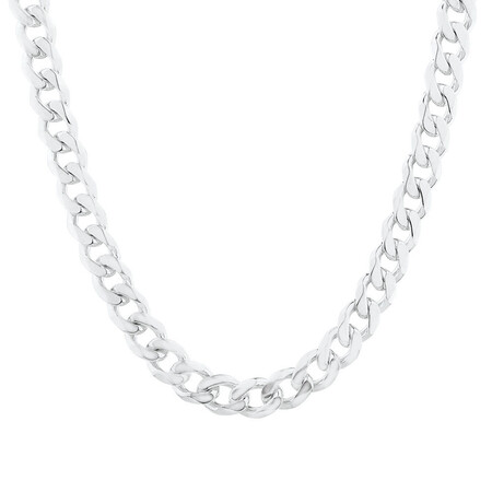 "55cm (22"") Curb Chain in Sterling Silver"