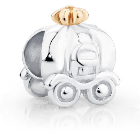 10ct Yellow Gold & Sterling Silver Carriage Charm