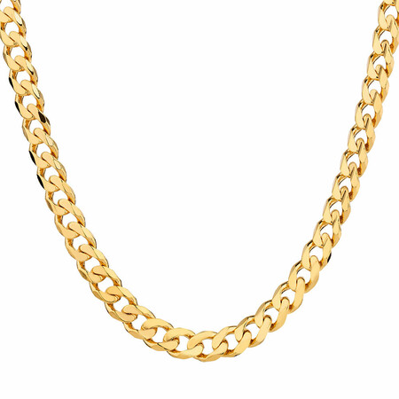 """Men's 55cm (22"""") Curb Chain in 10ct Yellow Gold"""