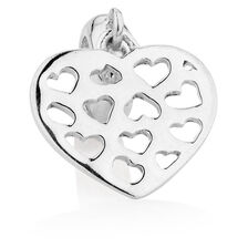 Sterling Silver Heart Dangle Charm