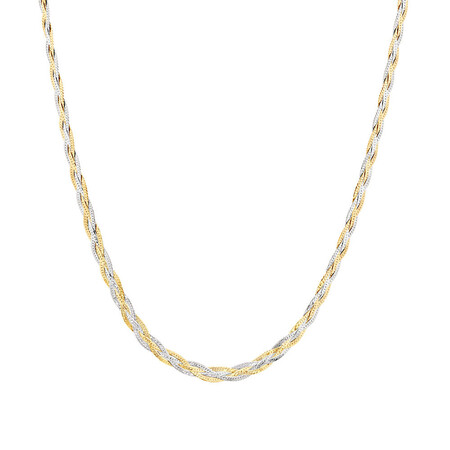 "70cm (28"") Fancy Chain in 10ct Yellow & White Gold"