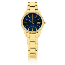 Ladies Watch with Diamonds in Gold Tone Stainless Steel ... 75c9e1ed8c4b