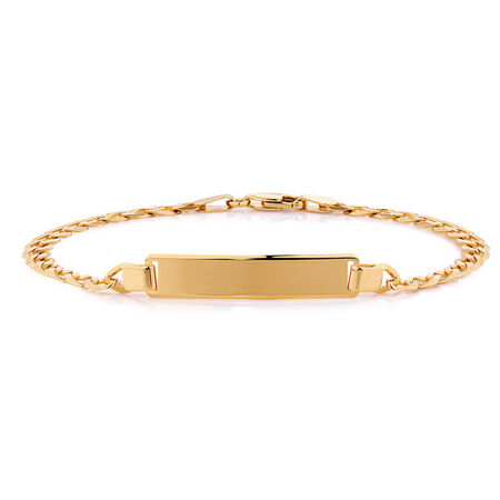 "19cm (7.5"") Identity Bracelet in 10ct Yellow Gold"