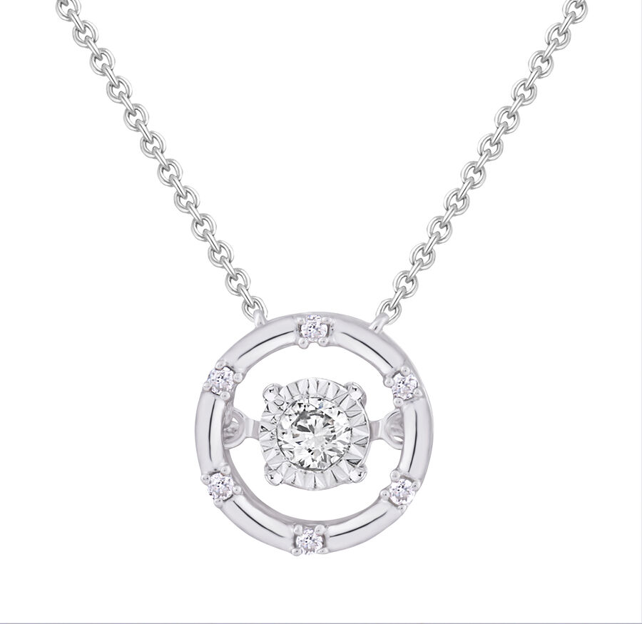 Everlight Pendant With 0.10 Carat TW Of Diamonds In Sterling Silver