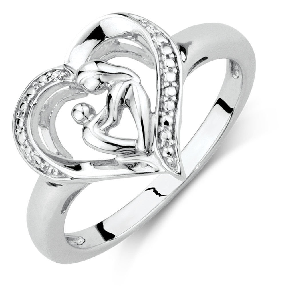 Fine Jewelry Dynamic New Sterling Silver Mother And Son Love Hearts Pendant Charm