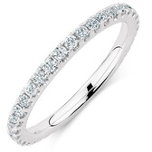 Sir Michael Hill Designer GrandAria Wedding Band with 1/2 Carat TW of Diamonds in 14ct White Gold