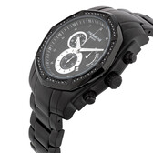 Men's Watch with 1/2 Carat TW of Diamonds in Black Stainless Steel
