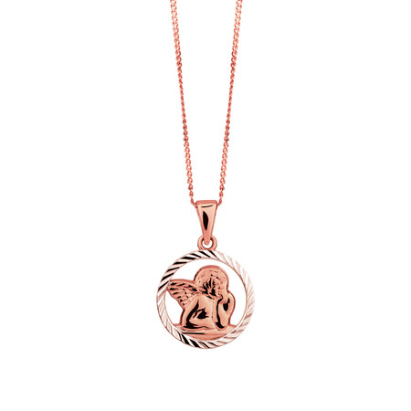 Cherub Pendant in 10ct Rose Gold