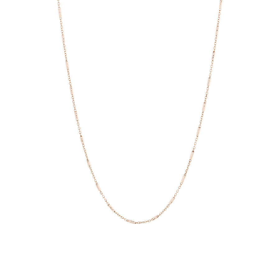 Square Barrel Chain in 10ct Rose Gold