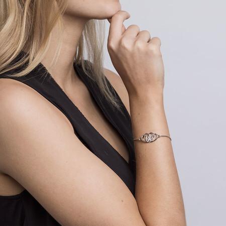 Infinitas Bracelet with Diamonds in Sterling Silver