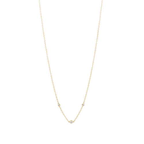 Necklace with 0.10 Carat TW of Diamonds in 10ct Yellow Gold
