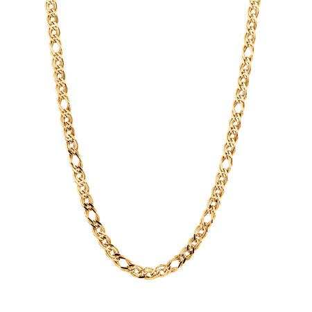 """45cm (18"""") Double Oval Curb Chain in 10ct Yellow Gold"""