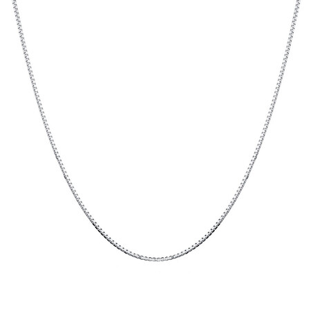 "50cm (20"") Box Chain in Sterling Silver"