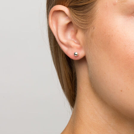 5mm Ball Stud Earrings in Sterling Silver