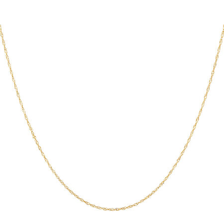 """45cm (18"""") Singapore Chain in 14ct Yellow Gold"""