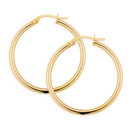 Hoop Earrings in 10ct Yellow Gold