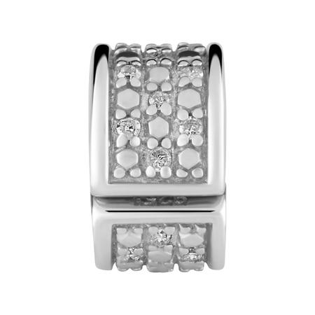 Diamond Set & Sterling Silver Stopper