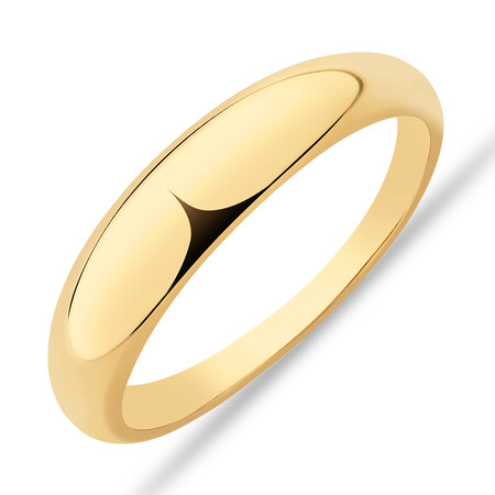 Narrow Polished Dome Ring in 10ct Yellow Gold