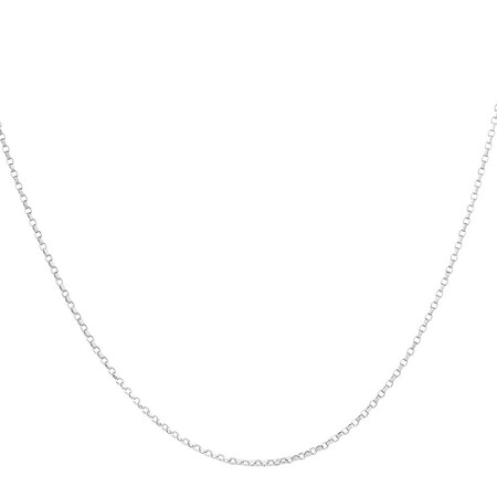 "55cm (22"") Belcher Chain in 10ct White Gold"
