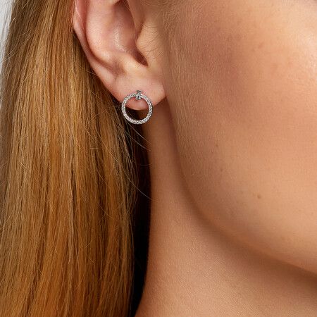 Earrings with 0.25 Carat TW Of Diamonds in 10ct White Gold