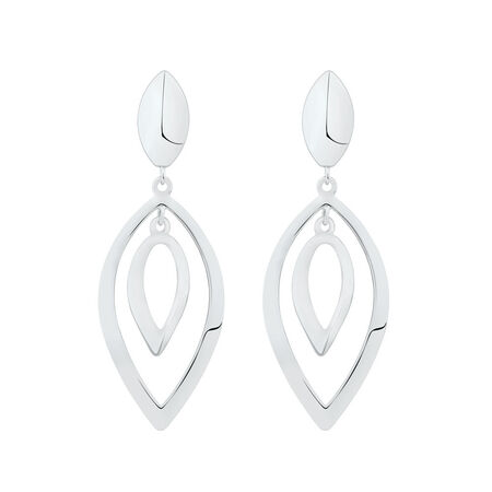 Fancy Drop Earrings in Sterling Silver